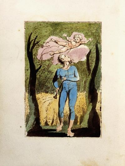 Frontispiece, from 'Songs of Innocence', 1789-William Blake-Giclee Print