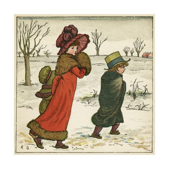 Frontispiece, Kate Greenaway\'s Birthday Book for Children Giclee ...