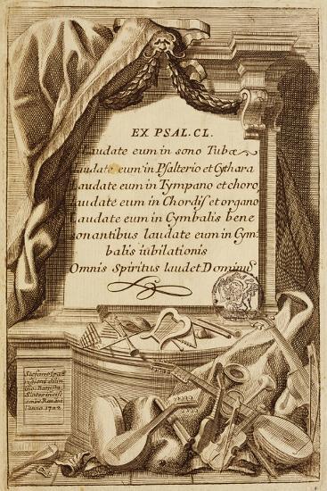 Frontispiece of Gabinetto Armonico--Giclee Print