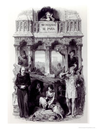 Frontispiece of Notre Dame de Paris-Francois Joseph Aime De Lemud-Giclee Print