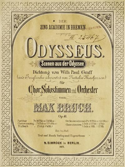 Frontispiece of Odysseus-Max Bruch-Giclee Print