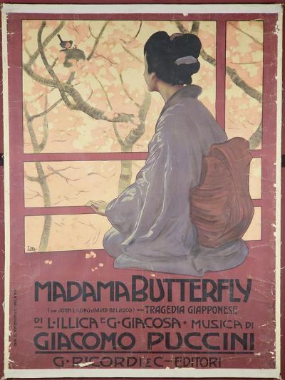 Frontispiece of the Score Sheet For Madame Butterfly by Giacomo Puccini--Giclee Print