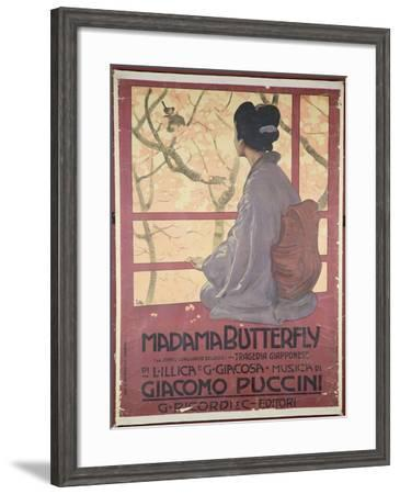 Frontispiece of the Score Sheet For Madame Butterfly by Giacomo Puccini--Framed Giclee Print