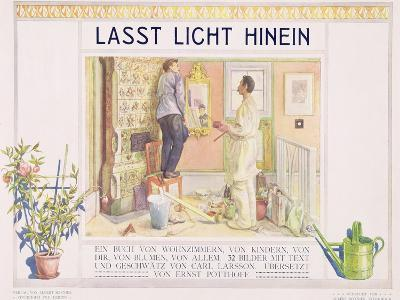 """Frontispiece to """"Lasst Licht Hinin"""",(""""Let in More Light"""") 1909-Carl Larsson-Giclee Print"""