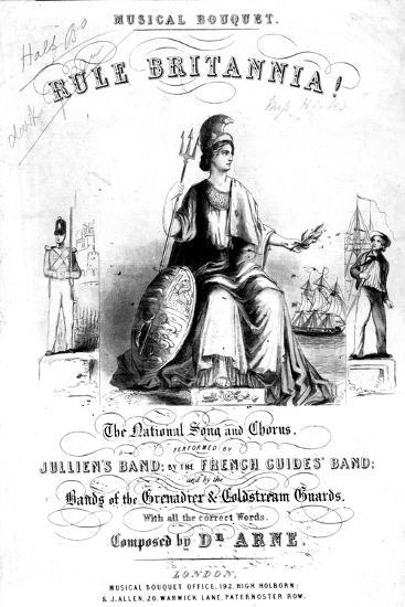 Frontispiece to Sheet Music for 'Rule Britannia!'--Giclee Print