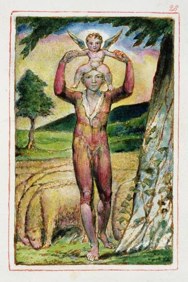 Frontispiece to Songs of Experience: Plate 28 from Songs of Innocence and of Experience C.1815-26-William Blake-Giclee Print