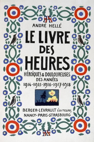 Frontpage of Le Livre Des Heures, 1919-Andre Helle-Giclee Print