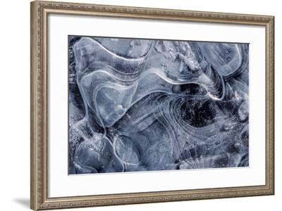 Frost Crystals on a Pane of Ice-Tom Murphy-Framed Photographic Print