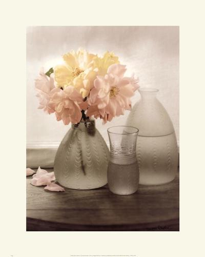 Frosted Glass Vases III-Sondra Wampler-Art Print