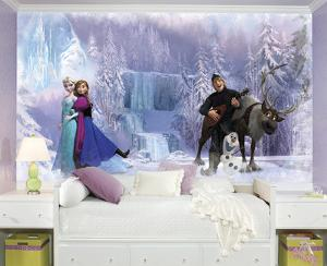Frozen Chair Rail Prepasted Wall Mural