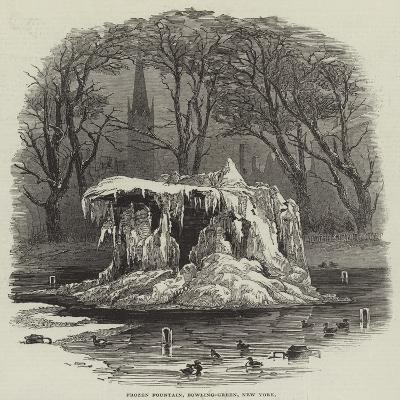 Frozen Fountain, Bowling-Green, New York--Giclee Print