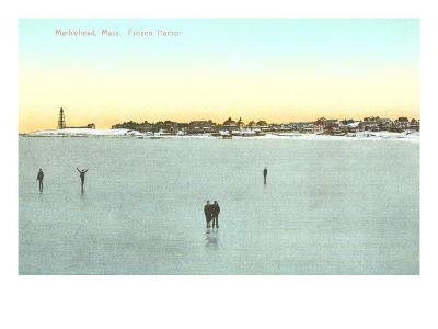 Frozen Harbor, Marblehead, Mass.--Art Print