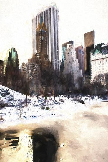 Frozen Lake in Central Park-Philippe Hugonnard-Giclee Print