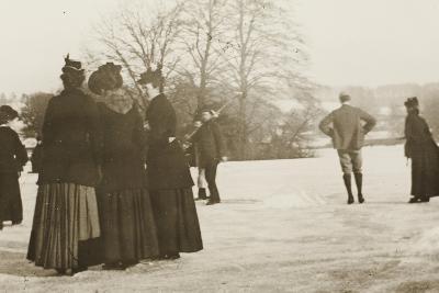 Frozen River Exe, 1917--Photographic Print