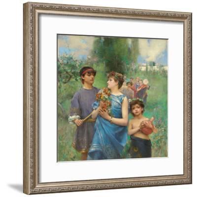 Frühling (Le Printemps)-Henry Siddons Mowbray-Framed Giclee Print