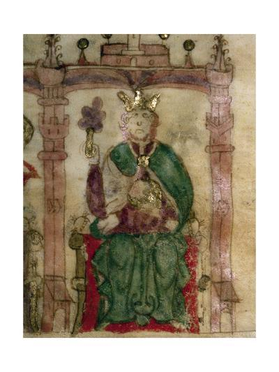 """Fruela I Died 768, King of Asturias from 757, Miniature from the Codex """"Semblanza De Reyes""""--Giclee Print"""