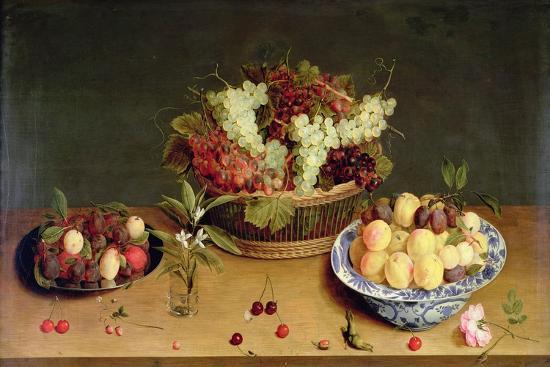 Fruit and Flowers-Isaac Soreau-Giclee Print