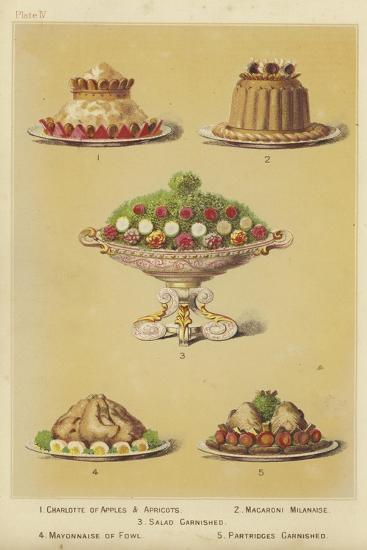 Fruit and Fowl Dishes--Giclee Print