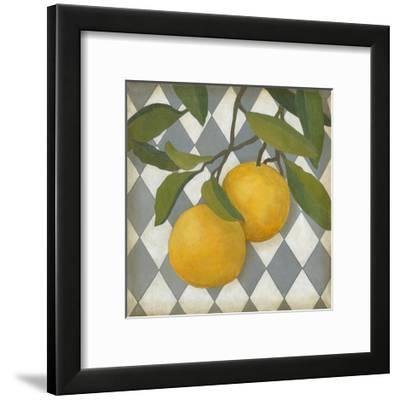 Fruit and Pattern IV-Megan Meagher-Framed Art Print