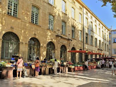 Fruit and Vegetable Market, Aix-En-Provence, Bouches-Du-Rhone, Provence, France, Europe-Peter Richardson-Photographic Print