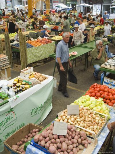 Fruit and Vegetable Market, Sarajevo, Bosnia, Bosnia-Herzegovina-Christian Kober-Photographic Print