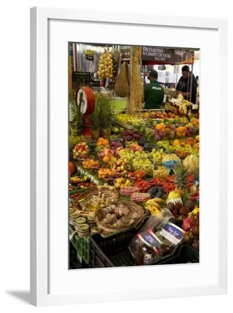 Fruit and Vegetable Stall at Campo De Fiori Market, Rome, Lazio, Italy, Europe-Peter Barritt-Framed Photographic Print