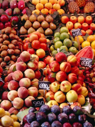 Fruit at La Boqueria Market, Barcelona, Spain-Oliver Strewe-Photographic Print