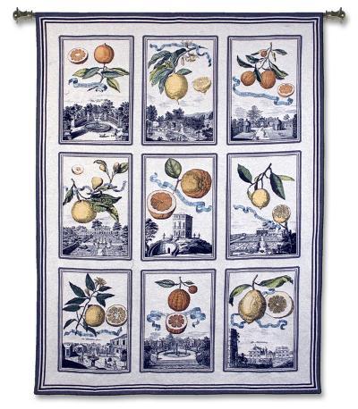 Fruit Collage-Volkamer-Wall Tapestry