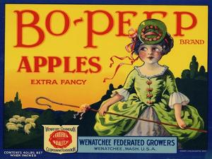 Fruit Crate Labels: Bo-Peep Brand Apples, Extra Fancy; Wenatchee-Okanogan Cooperative Federation