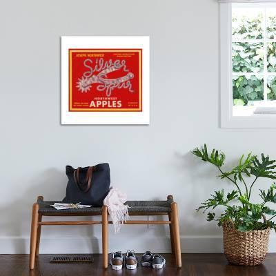 fruit crate labels silver spur northwest apples art print by art com