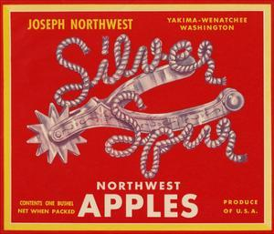 Fruit Crate Labels: Silver Spur Northwest Apples