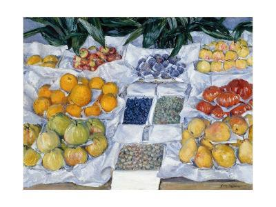 Fruit Displayed on a Stand-Gustave Caillebotte-Giclee Print