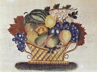 Fruit Filled Basket, Pennsylvania Dutch, 19th century--Giclee Print
