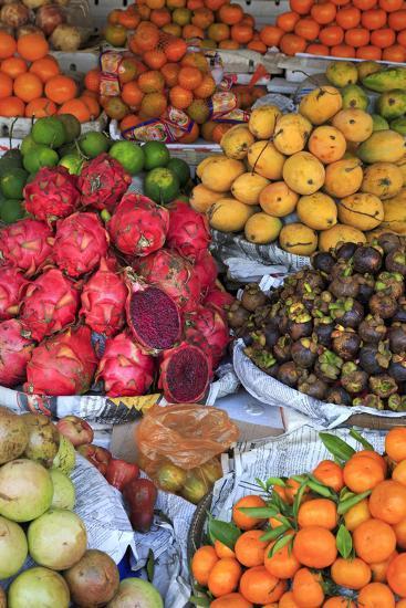 Fruit in Sihanoukville Market, Sihanouk Province, Cambodia, Indochina, Southeast Asia, Asia-Richard Cummins-Photographic Print