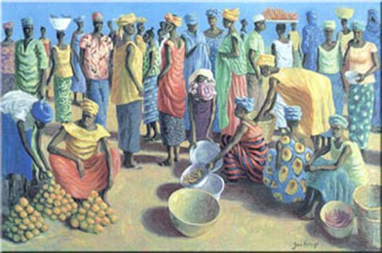 Fruit Merchants-Jan Kruip-Art Print