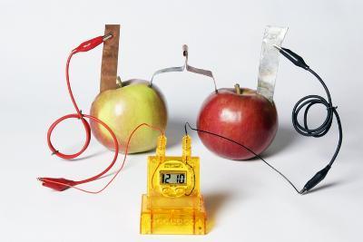 Fruit-powered Clock-Friedrich Saurer-Photographic Print