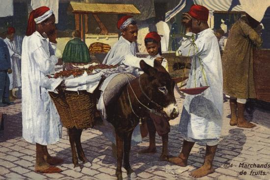 Fruit Seller, Tangier--Photographic Print