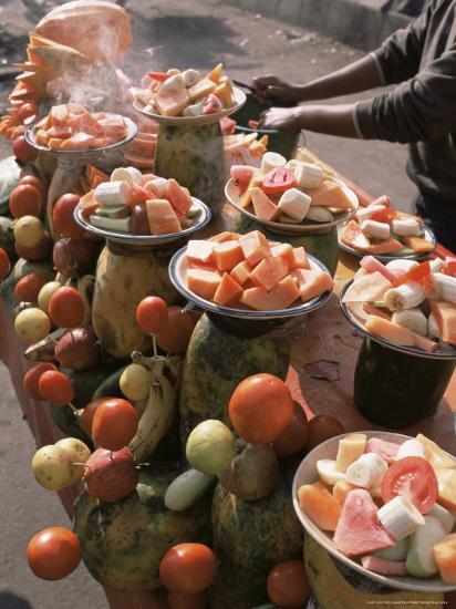 Fruit Stall, Delhi, India-John Henry Claude Wilson-Photographic Print