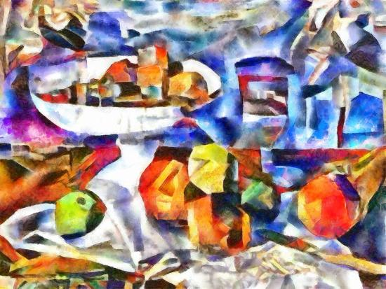 fruits and glass ,2017-Alex Caminker-Giclee Print