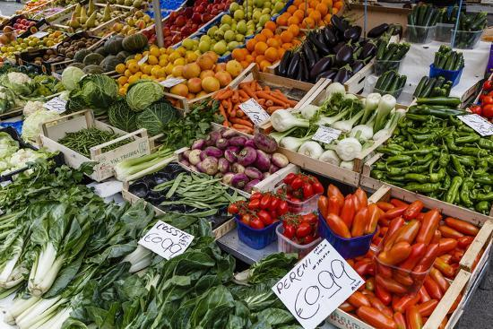 Fruits and Vegetables at Papiniano Market, Milan, Lombardy, Italy, Europe-Yadid Levy-Photographic Print
