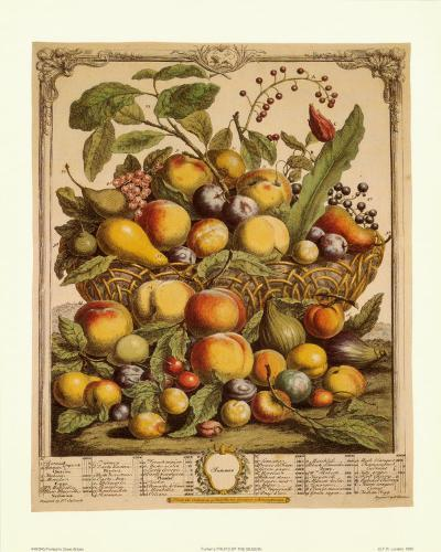Fruits of the Season, Summer-Robert Furber-Art Print