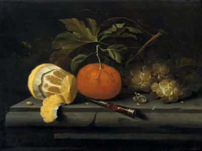 Fruits on a Table Setting of Stone, C1653-1659-Johannes Borman-Giclee Print