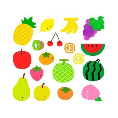 Fruits- sobakasu-Art Print