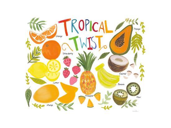 Fruity Smoothie II on White-Farida Zaman-Art Print