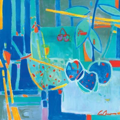 Frutas en Azul-Luis Amer-Premium Giclee Print