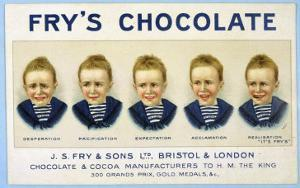Fry's Five Boys Chocolate, Desperation Pacification Expectation Acclamation Realisation