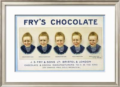 Frys Five Boys Chocolate Desperation Pacification Expectation Acclamation Realisation Giclee Print By Artcom