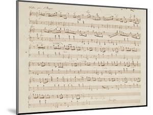 Autographed Manuscript of Valse Opus 70 No.1 in G Flat Major by Fryderyk Chopin