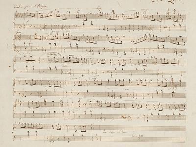 Autographed Manuscript of Valse Opus 70 No.1 in G Flat Major