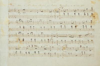 Autographed Manuscript Signed and Dedicated of the Grande Valse Brilliante, Opus 18 in E Flat Major by Fryderyk Chopin